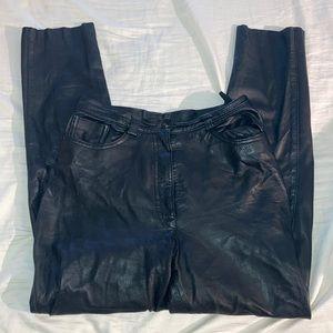 Pants - Authentic Black Leather Pants